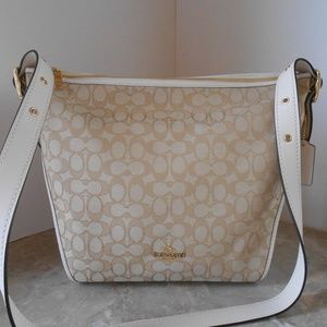 New COACH Signature Duflette Shoulder Bag/Crossbod